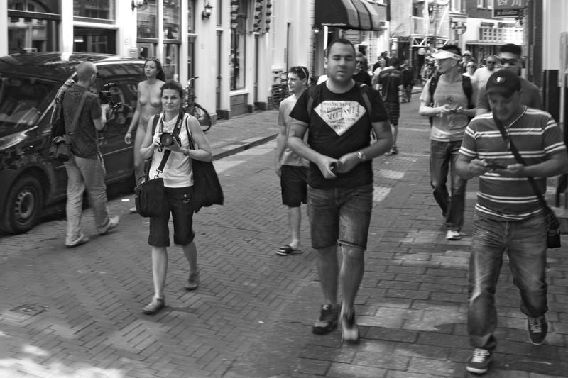 Straßenszene in Amsterdam